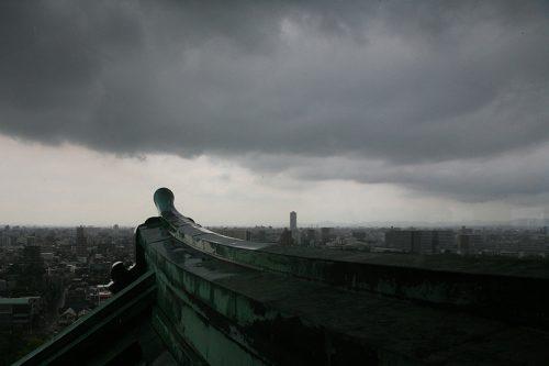 名古屋城天守閣より北を望む