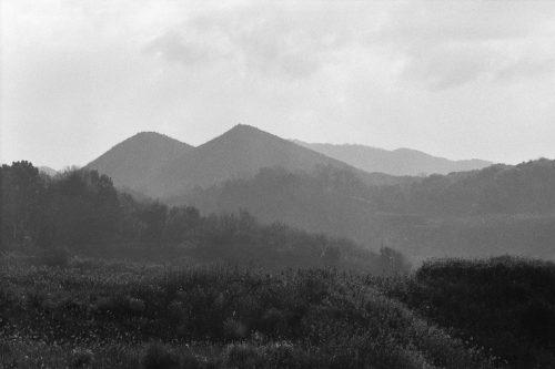 筑豊のボタ山跡と思われる山
