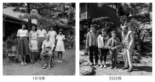 家族写真1978年と2020年