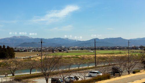彦根から望む鈴鹿山脈