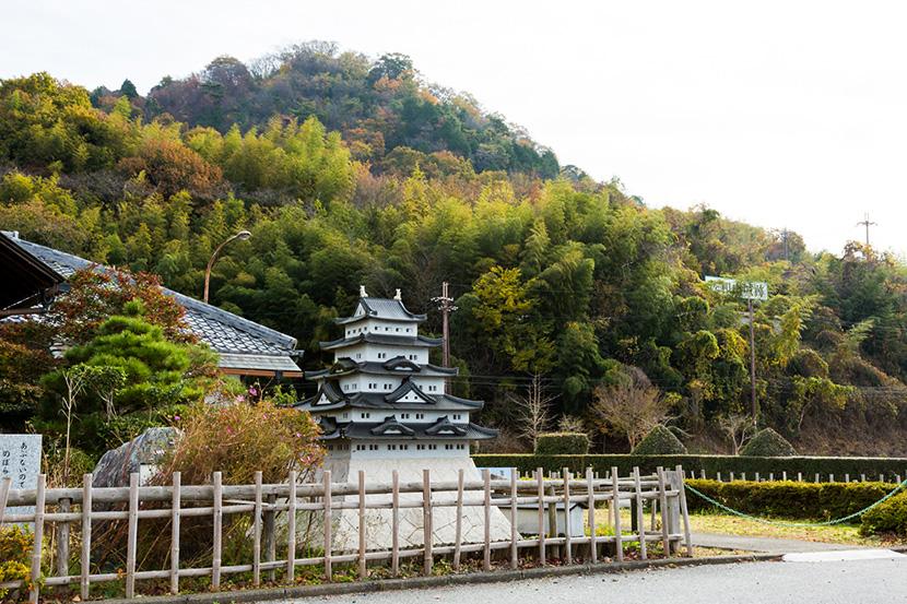 佐和山城の模型と佐和山